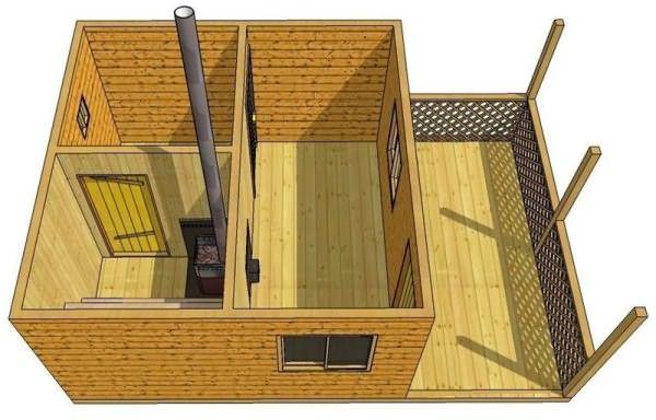 Как построить баню своими руками 6х4 24