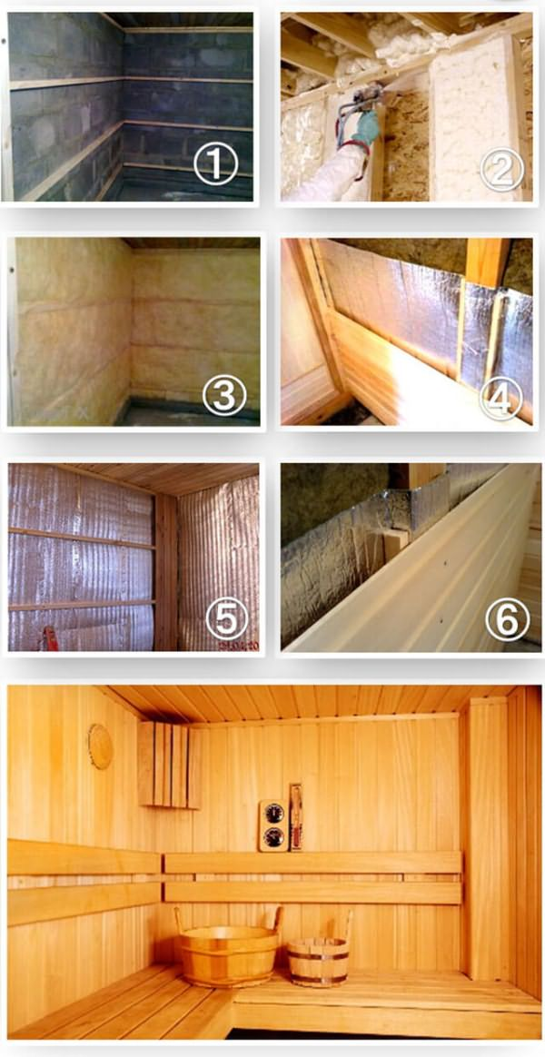 стен руками отделка своими бани внутри