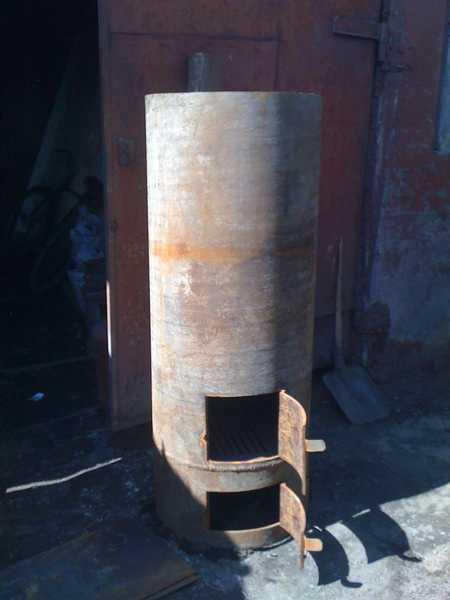 Печка для бани своими руками из трубы видео