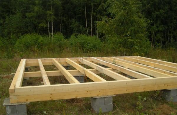 Как своими руками сделать фундамент под деревянный дом 198